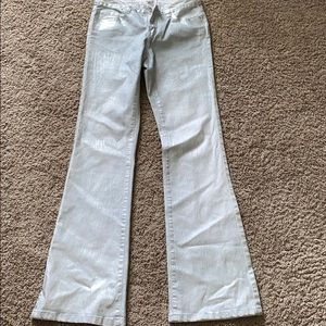 Cache silver coated jeans sz 4